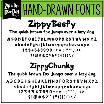 Zip-A-Dee-Doo-Dah Designs Font Collection 8 — Includes Commercial License!