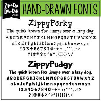 Zip-A-Dee-Doo-Dah Designs Font Collection 8 — Includes Commercial License!