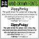 Zip-A-Dee-Doo-Dah Designs Font Collection 8 — Includes Com