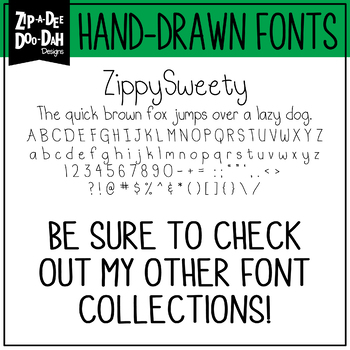Zip-A-Dee-Doo-Dah Designs Font Collection 9 — Includes Commercial License!
