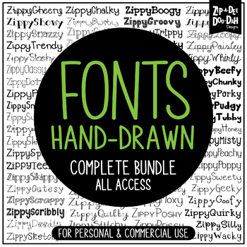 Zip-A-Dee-Doo-Dah Designs Fonts Mega Pack — Includes Commercial License!