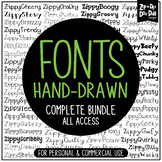 Zippy Fonts Complete Bundle {Zip-A-Dee-Doo-Dah Designs}