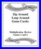 Zip Around Loop Around Multiplication Review Games - Card Sets 1 and 2