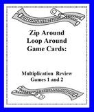 Zip Around Loop Around Multiplication Review Games - Card