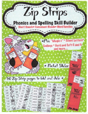 Zip Strip Phonics and Spelling Skill Builders - Short Vowels