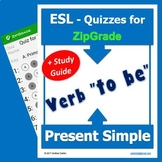 Verb TO BE Present Simple with Study Guide and for ZipGrade