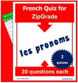 ZipGrade French Subject-Personal Pronouns - QUIZZES