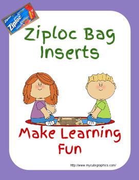 Ziploc Bag Inserts