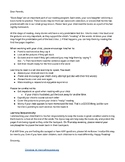 Ziploc Book Baggy - Parent Letter