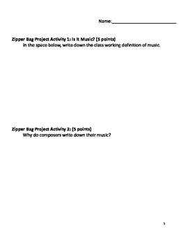 Zipper Bag Composition Project
