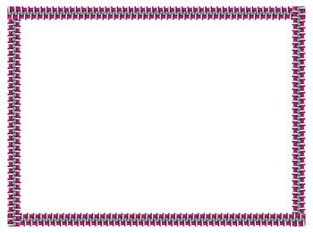 Zipper Border, Frames & Clip Art #1