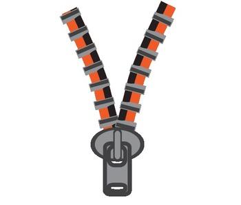 Zipper Border, Frames & Clip Art #2
