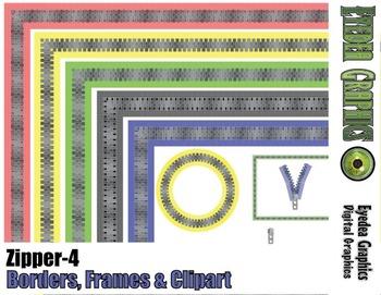 Zipper Border, Frames & Clip Art #4
