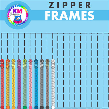 Zipper Borders in Rainbow Colors