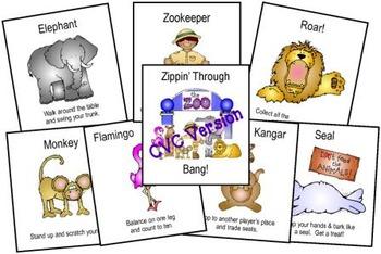 Zippin' Through the Zoo Bang! CVC Version