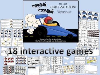 Zipping, Zooming through Subtraction (Kindergarten K.OA Super Pack)
