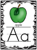 Zippy Zebra Stripe Alphabet Poster Set