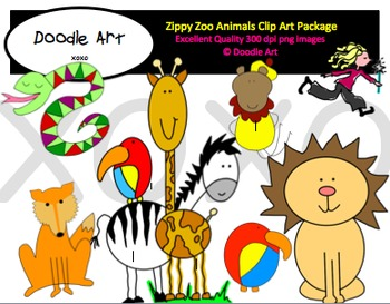 Zippy Zoo Clipart Pack