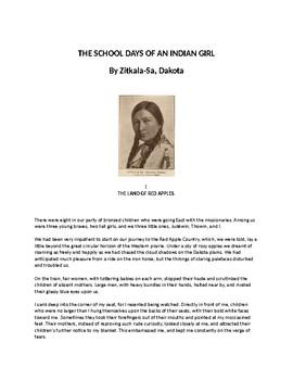 zitkala sa school days of an indian girl