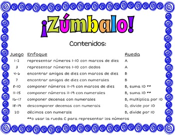 ¡Zúmbalo! 20 Bump math games in Spanish - Place Value Edition