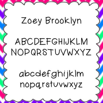 Zoey Brooklyn Font {personal and commercial use; no license needed}