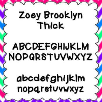 Zoey Brooklyn Thick Font {personal and commercial use; no license needed}