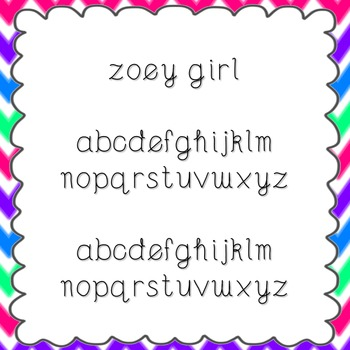Zoey Girl Font {personal and commercial use; no license needed}