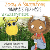 Zoey & Sassafras Grumplets and Pests Vocabulary Freebie