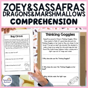 Zoey and Sassafras Dragons and Marshmallows Reading Comprehension