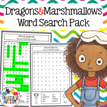 Zoey and Sassafras Dragons and Marshmallows Word Search