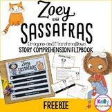 Zoey and Sassafras Interactive Comprehension Flipbook Freebie