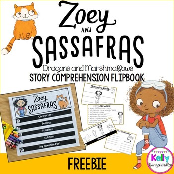 Zoey and Sassafras Interactive Comprehension Flipbook Freebie