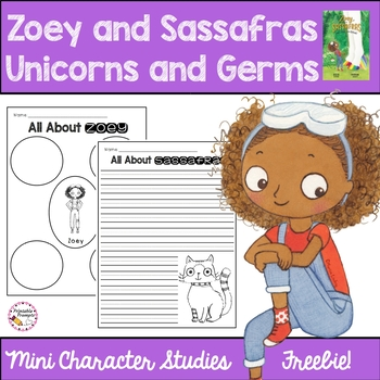 Zoey and Sassafras Unicorns and Germs Character Freebie