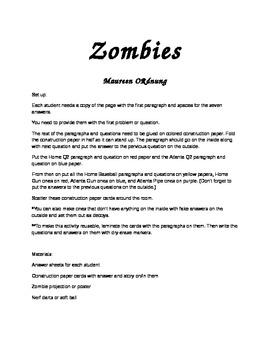 Zombie Activity for Any Subject