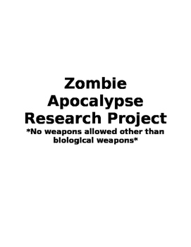 Zombie Apocalypse Cross-Curricular Research Project