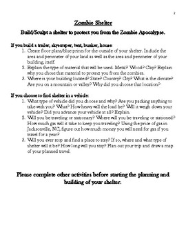 Zombie Apocalypse Engineering Project (Math, Writing, Science, Geography, etc.)