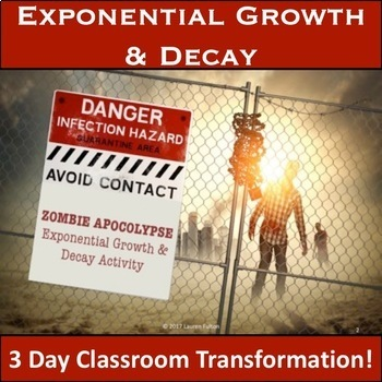 Exponential Growth and Decay Activity - Zombie Apocalypse