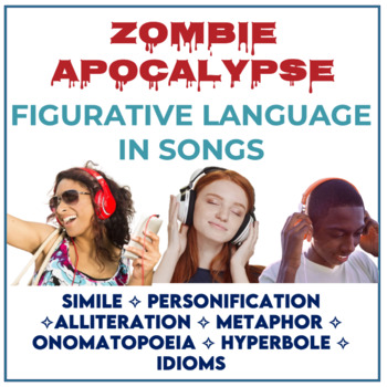 Zombie Apocalypse Figurative Language in Songs *Distance Learning*
