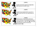 Zombie Apocalypse - Fun Way to study the states and capitals