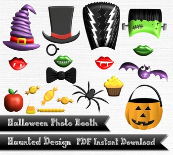 Classic Halloween Photobooth Photo Booth Digital Download 300 DPI PDF
