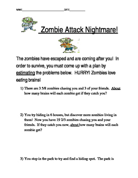 Zombie Attack Estimation