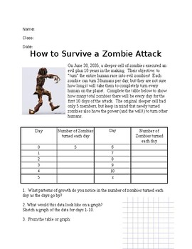 Zombie Attack Worksheets & Teaching Resources | Teachers Pay ...
