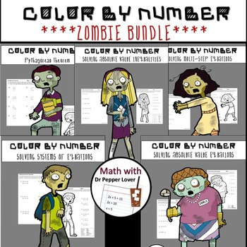 Zombie Bundle:  Absolute Value Equations/Inequalities and More!