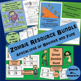 8th Grade Test Prep Pre Algebra Equations Pythagorean Theorem ZOMBIE Bundle
