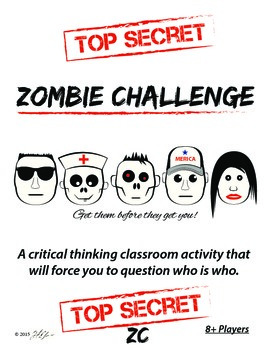 Zombie Challenge Critical Thinking Game