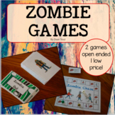 Halloween Speech Therapy Zombie Chase and Zombie Out Games