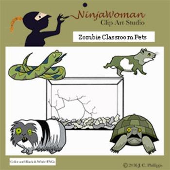 Zombie Classroom Pets FREE Clip Art