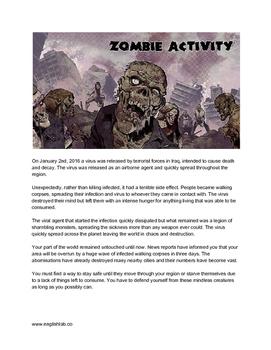 Zombie Classroom Survival Activity
