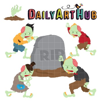 Zombie Clip Art - Great for Art Class Projects!