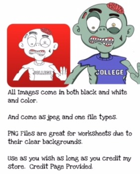 Zombie Clip Art Pack (Spice up any activity with a few Zombies)